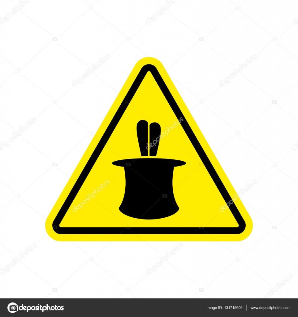 Illusion clipart magic trick Symbo Hazard yellow Trick sign