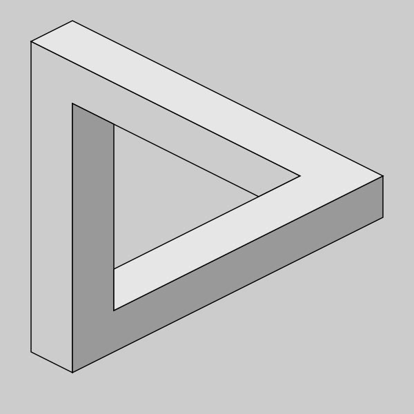 Illusion clipart math Optical Triangle Illusion of sides