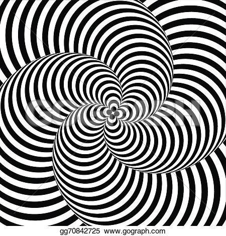 Illusion clipart motion Striped monochrome Design  distortion