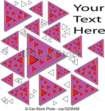 Illusion clipart motion Triangles illusion motion Floating Vector