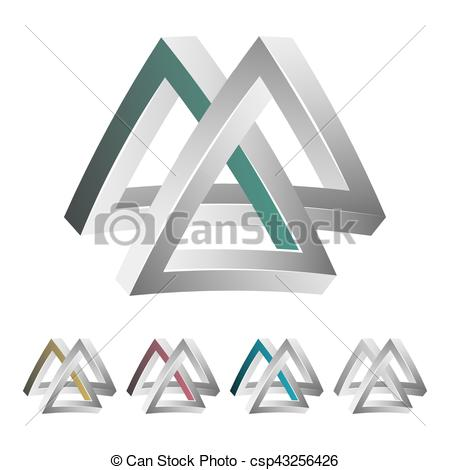 Optical Illusion clipart paradox Paradox Shape White Colorful Impossible