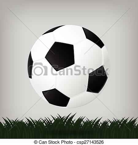 Illusion clipart soccer Isolated football background of Illustration