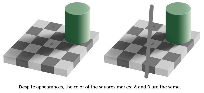Illusion clipart square Art Shadow Checkerboard Illusion Label