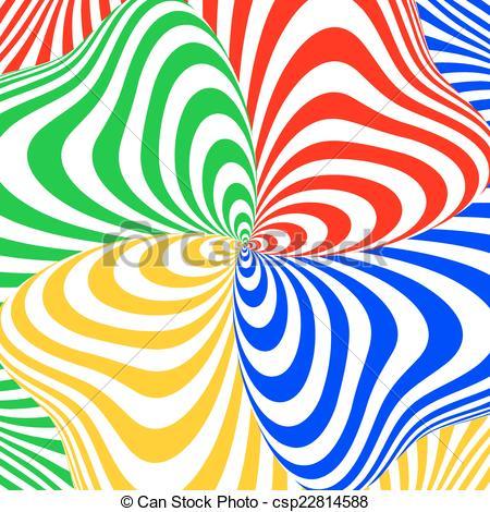 Illusion clipart swirl Colorful movement csp22814588 of swirl