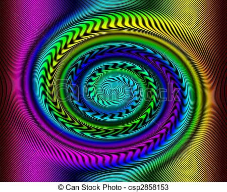 Illusion clipart swirl Illusion swirl of Swirl Rainbow