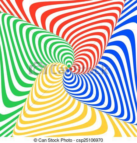 Illusion clipart swirl Of colorful background Vectors Design