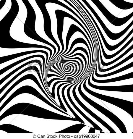 Illusion clipart swirl Design swirl csp19968047 Vector monochrome