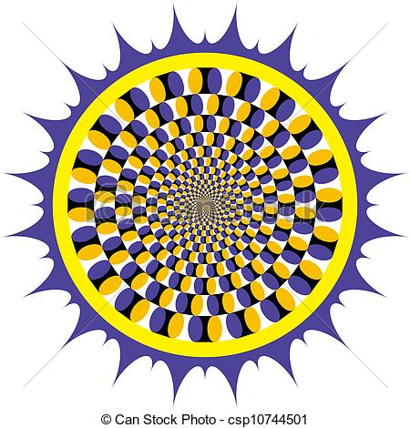 Illusion clipart vector Illusion Spin  Optical csp10744501