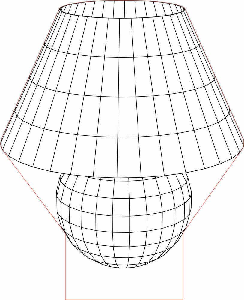 Illusion clipart vector Vector 2 lamp 3D Table