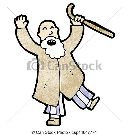 Illustration clipart angry old man  angry Illustration old Vector