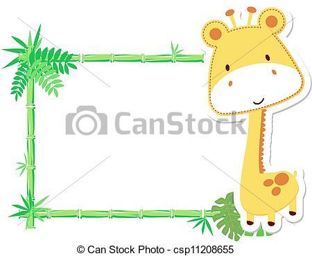 Illustration clipart art frame Baby cute  frame Vector