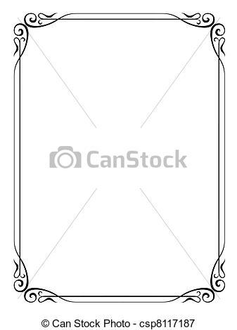 Illustration clipart art frame Ornamental simple frame Illustration frame