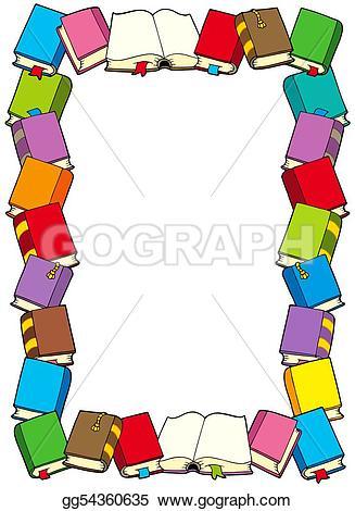 Illustration clipart art frame GoGraph Stock gg54360635 gg54360635 books
