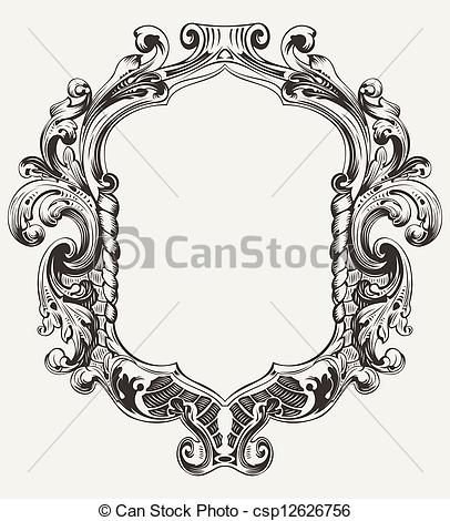 Illustration clipart art frame  of Vector Frame Original