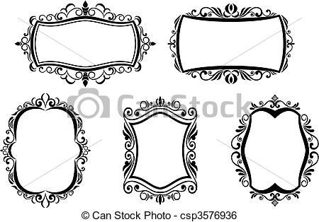Illustration clipart art frame Antique frames Art of frames