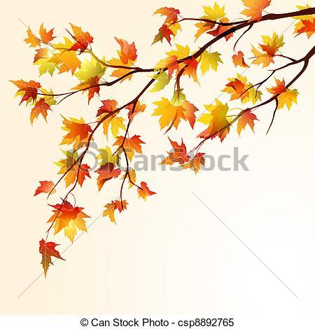 Illustration clipart autmn Branche csp8892765 Vector Autumn Autumn