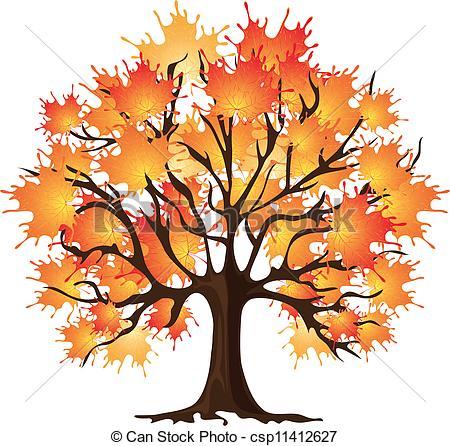 Illustration clipart autmn Search Maple Clip of tree