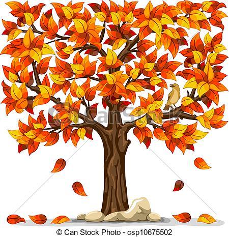Tree clipart autum #4