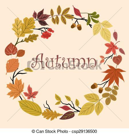 Illustration clipart autmn Acorns acorns leaves Vector Autumn