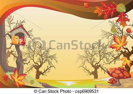 Illustration clipart autumn season Of vector season or background