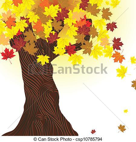 Illustration clipart autumn season Tree  autumn Beautiful autumn