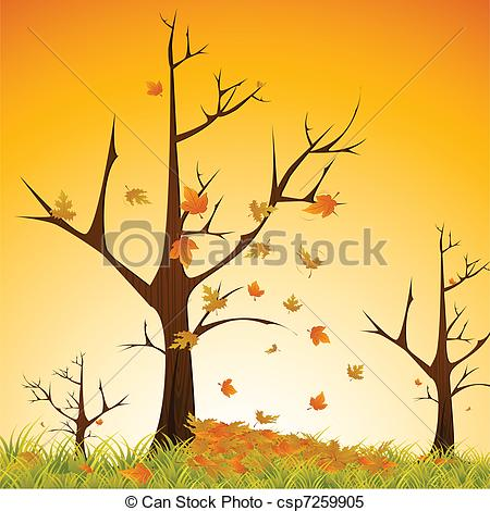 Illustration clipart autumn season Of Season Autumn tree csp7259905