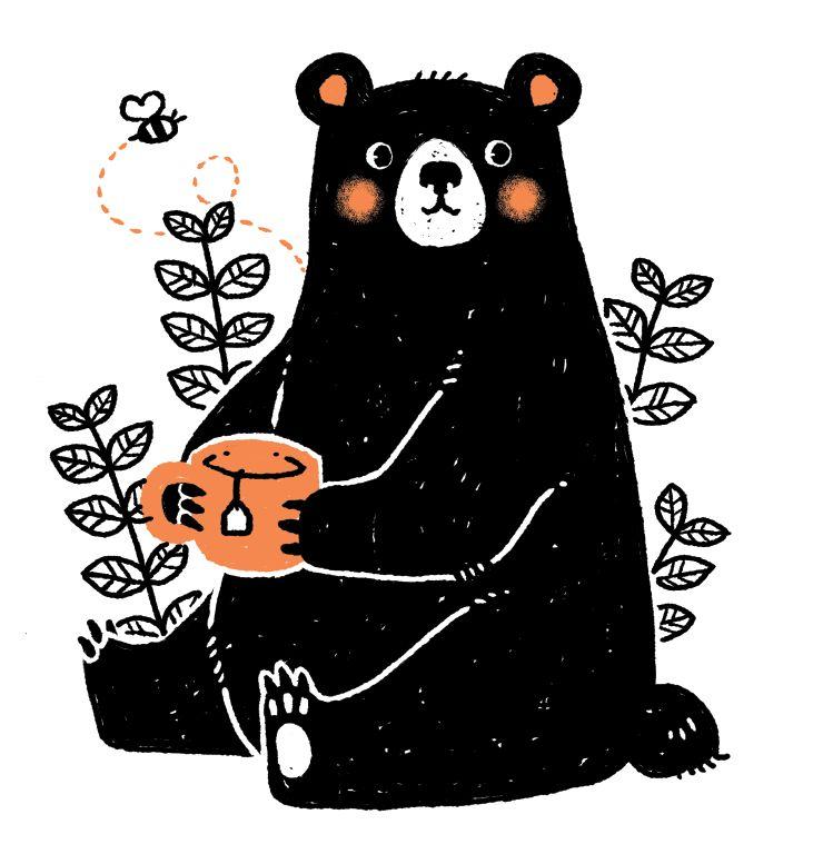 Illustration clipart bad guy Pinterest Best illustration bee Bear