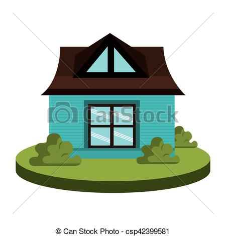 Illustration clipart beautiful house House beautiful Vector  icon