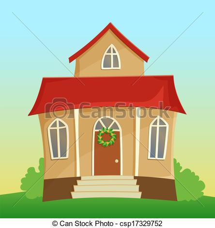 Hosue clipart beautiful house Vector Vector house house of