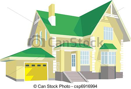 Hosue clipart modern House two Beautiful with story