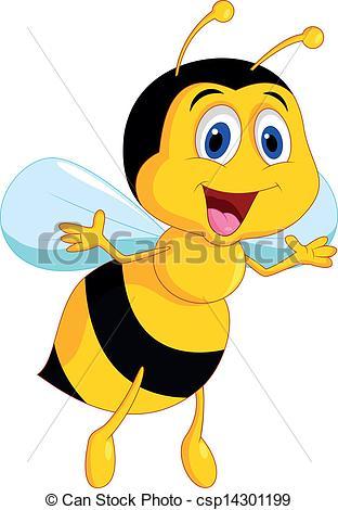 Illustration clipart bee Bee Cute  csp14301199 Cute