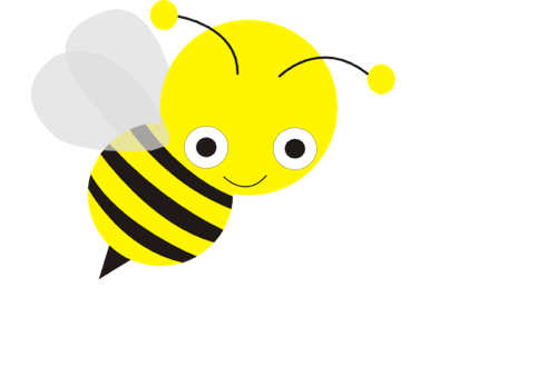 Background clipart bee Clipartion collection Cute cute Bee