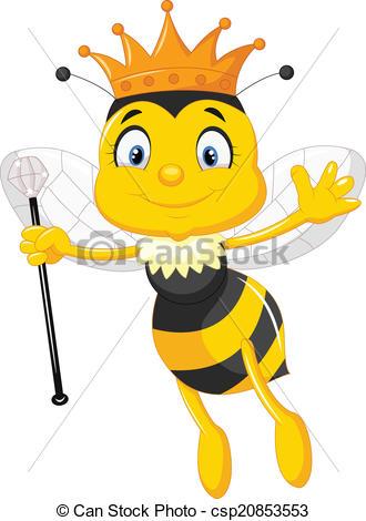 Illustration clipart bee  Queen csp20853553 Queen Clipart
