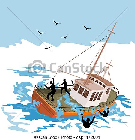 Illustration clipart boat And capsize industry to boat