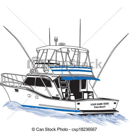 Boat clipart fishing trawler Sport Clip of Offshore Fishing