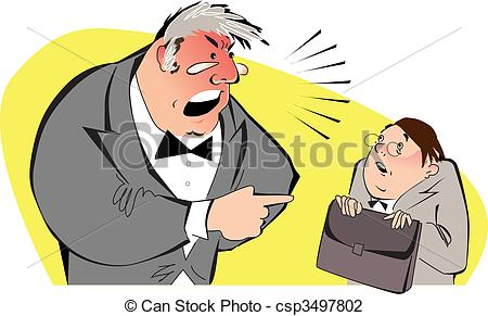 Illustration clipart boss Art Angry clipart boss of