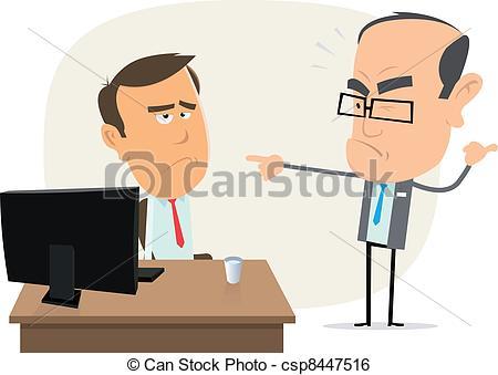Illustration clipart boss Stupid of Art Illustration Boss
