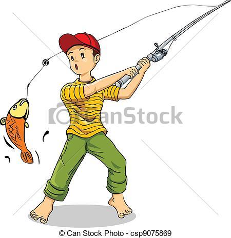 Illustration clipart boy fishing Of of illustration boy Vectors