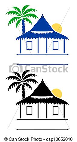 Illustration clipart bungalow Of a Clip Bungalow signs