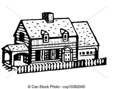 Illustration clipart bungalow Bungalow home version home of