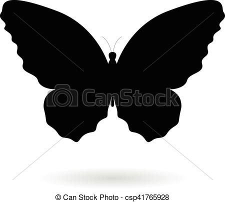 Illustration clipart butterfly silhouette Csp41765928 Silhouette Butterfly Illustration Illustration