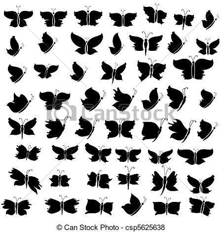 Illustration clipart butterfly silhouette Of silhouette butterfly silhouette