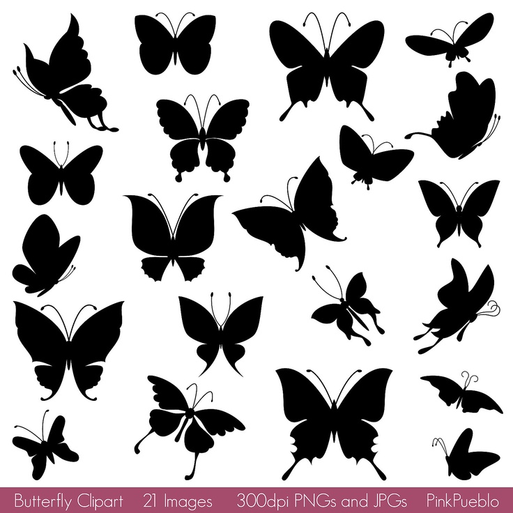 Illustration clipart butterfly silhouette Art Clipart Silhouettes Clipart images