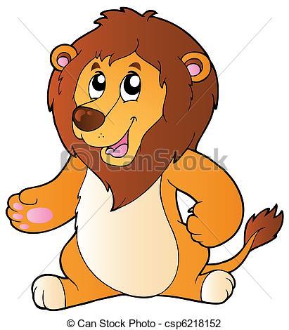 Illustration clipart cartoon lion Standing lion Cartoon illustration illustration