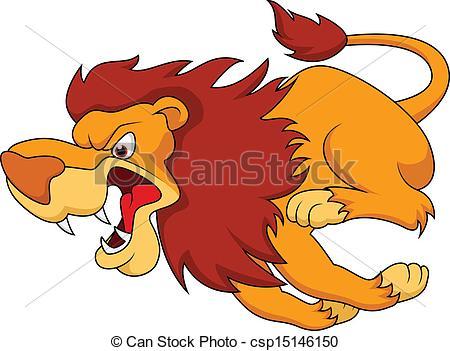 Illustration clipart cartoon lion Running vector Lion of Clipart