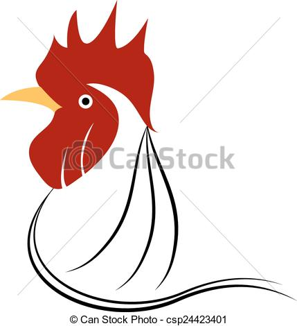 Illustration clipart chicken Vector Clipart icon chicken Vector