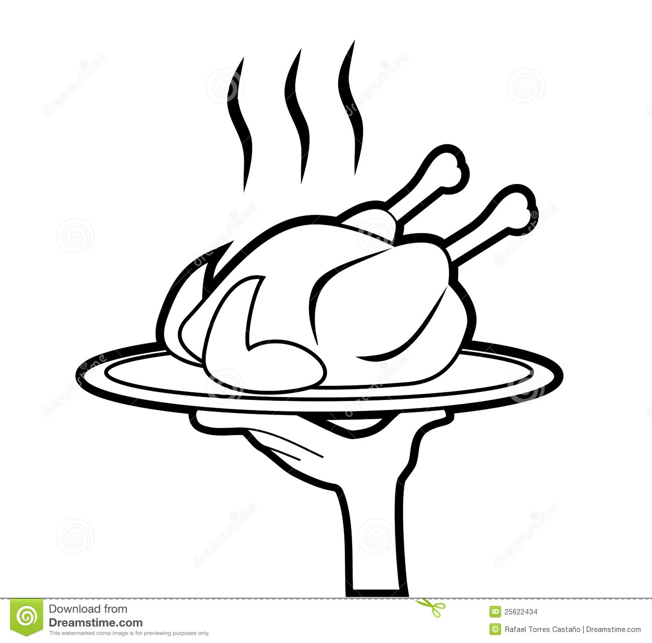 Illustration clipart chicken A plate Illustrations Wing Hot