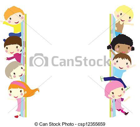 Illustration clipart child background Children Vector background children out