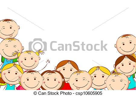 Illustration clipart child background Of Clipart illustration on happy