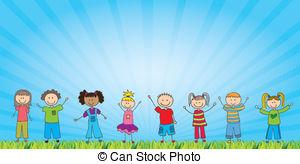 Illustration clipart child background Background Childrens Illustrations kids Colorful